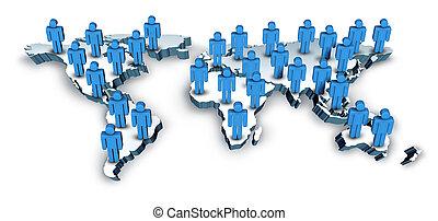 mapa, globalny, świat, komunikacje