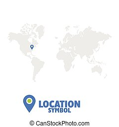 mapa, map., symbol., wskazówka, ikona, świat, gps, rozmieszczenie