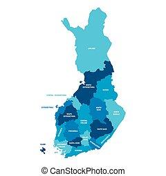 mapa, -, okolice, finlandia
