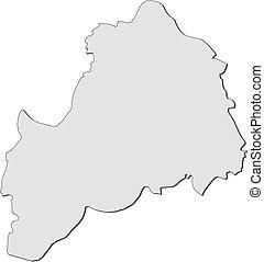 mapa, ostrobothnia, -, (finland), południowy