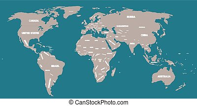 mapa, polityczny, świat