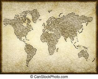 mapa, stary