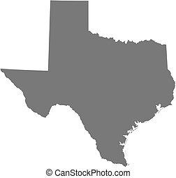 mapa, (united, -, texas, states)