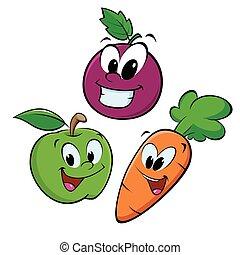marchew, winogrono, jabłko