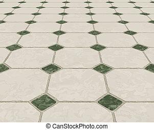 marmur, kafelkowa podłoga