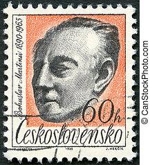 martinu, (1890-1959), tłoczyć, 1965, czechosłowacja, -, bohuslav, drukowany, 1965:, circa, widać, kompozytor