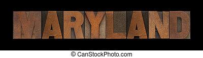 maryland, stary, drewno, typ