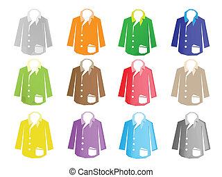 marynarka, komplet, ilustracja, barwny, garnitur