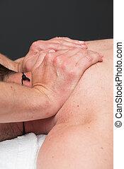 masaż, praca, terapeuta, lekkoatletyka