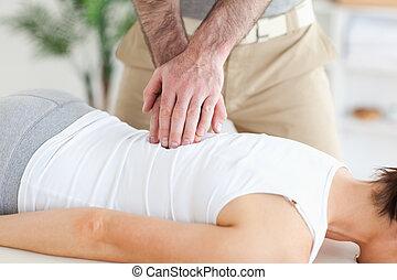masaże, customer's, wstecz, masażysta