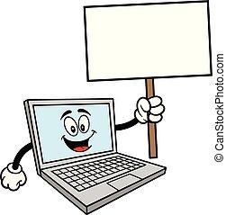 maskotka, komputer, znak