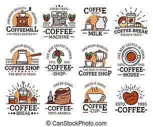 maszyna, kawa rozcieracz, frajerzy, espresso filiżanki
