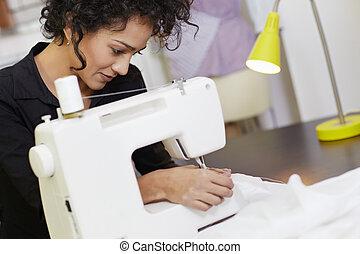 maszyna, projektant, fason, szycie