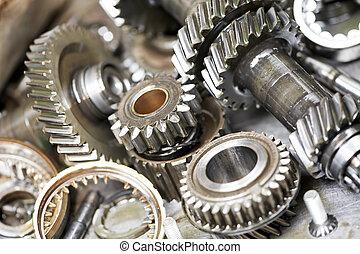 maszyna, samochód, szczelnie-do góry, mechanizmy