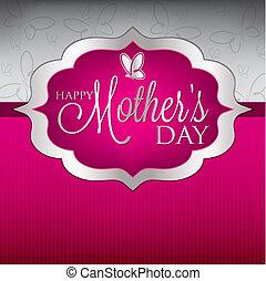 matczyny, format., elegancki, wektor, dzień, karta