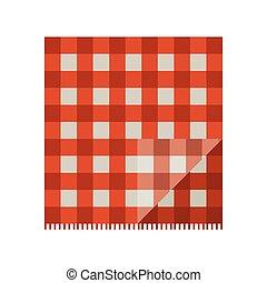 materiał, piknik, czerwony