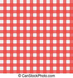 materiał, wektor, piknik, czerwony