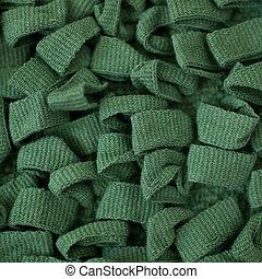 materiał, zielone tło