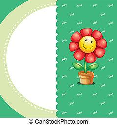 materiały piśmienne, uśmiechanie się, kwiat