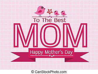 matki, powitanie, twój, projektować, mamusia, dzień, karta, szczęśliwy