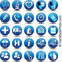 matt, troska, zdrowie, ikony