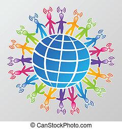 media, globalna sieć, towarzyski