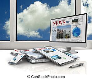 media, urządzenia, cyfrowy