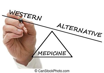 medycyna, alternatywa, vs, western