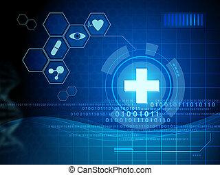 medycyna, interfejs, cyfrowy
