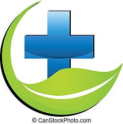 medycyna, logo, symbol, natura