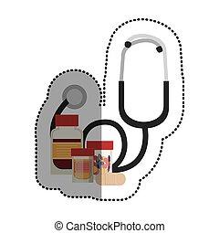 medycyna, projektować, medyczny, stetoskop, troska