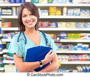 medyczna troska, zdrowie, woman., doktor