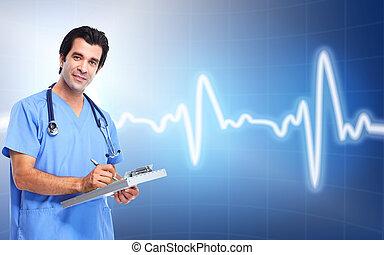 medyczny, cardiologist., zdrowie, care., doktor