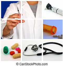 medyczny collage