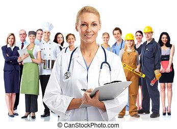 medyczny doktor, młody, woman.
