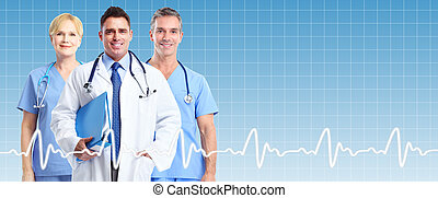 medyczny, grupa, doctors.
