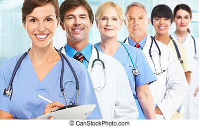 medyczny, grupa, leczy