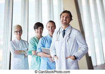 medyczny, grupa, szpitalniana obsada