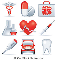 medyczny, icons.