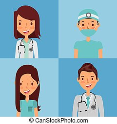 medyczny, ludzie, projektować, profesjonalny