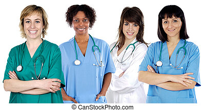 medyczny, multi-ethnic, drużyna