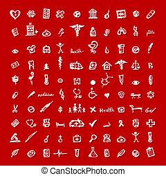 medyczny, projektować, twój, ikony