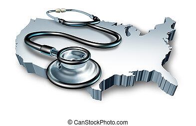 medyczny symbol, zdrowie, amerykanka