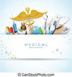medyczny, tło, healthcare