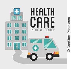 medyczny, wektor, projektować, illustration.