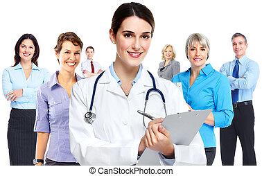 medyczny, woman., doktor