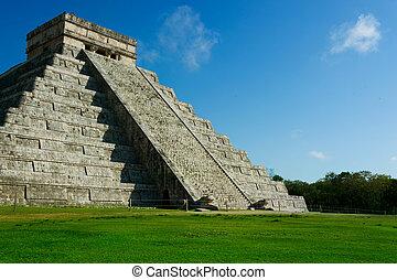 meksyk, mayan, piramida, chichen itza