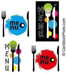 menu, abstrakcyjny