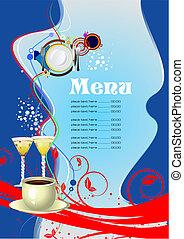 menu, (cafe), restauracja