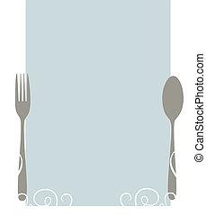 menu, czysty